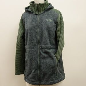 The North Face Womens Green Zip Hoodie XL